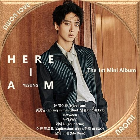 Cd Yesung Here I Am junior yesung here i am cdラベル k pop siwon