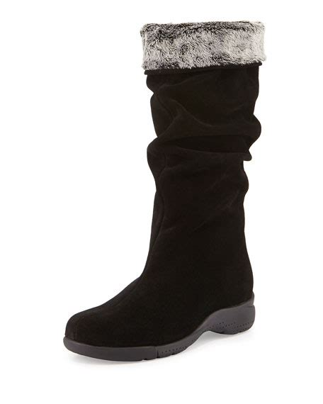 la canadienne trevis slouchy suede boot black