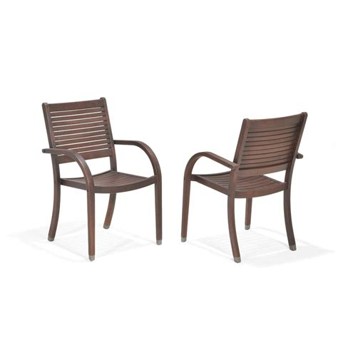 Allen And Roth Patio Chairs Shop Allen Roth Set Of 2 Woodwinds Slat Seat Wood Patio Dining Chairs At Lowes