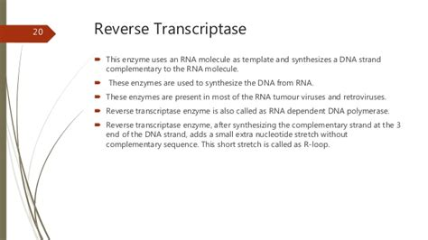 Transcriptase Synthesizes A Dna Molecule From An Rna Template by Gene Cloning Sk