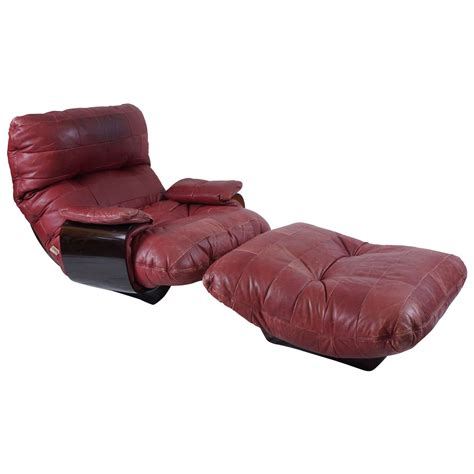 ligne roset ottoman michel ducaroy perspex and leather lounge chair and