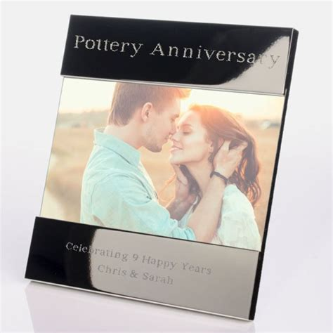 Engraved 9th (Pottery) Anniversary Photo Frame   The Gift
