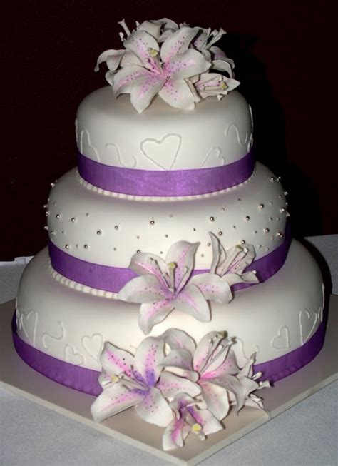 Wedding Cake Purple by Purple Wedding Cakes For Your Wedding Food And Drink