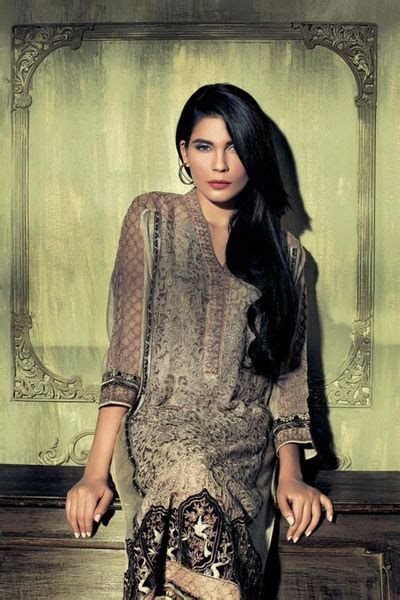 15 At Outfitters Uk by Ethnic By Outfitters Winter Wear Dresses Collection 2014
