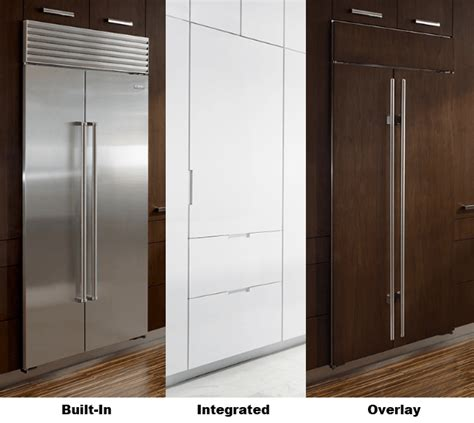 built with overlay vs built in vs integrated refrigerators what s