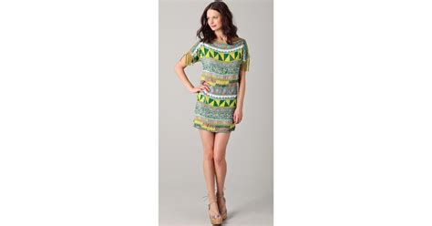 Sherly Mini Dress Batik By antik batik jacara mini dress in green lyst
