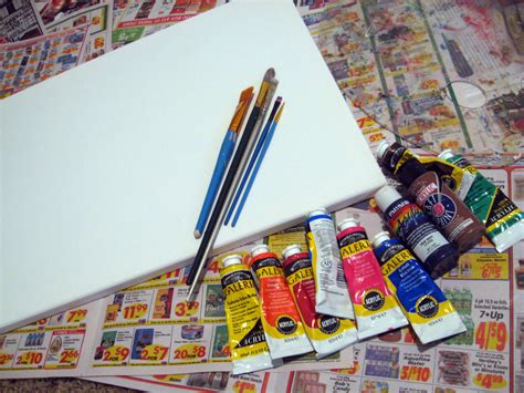 acrylic painting material diy abstract tree painting make something mondays