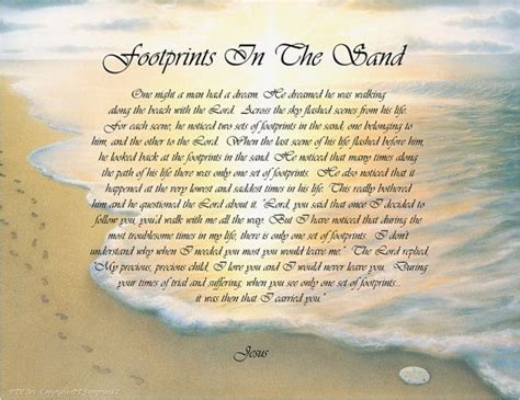 printable version of footprints in the sand poem 51 best images about footprints in the sand poem on