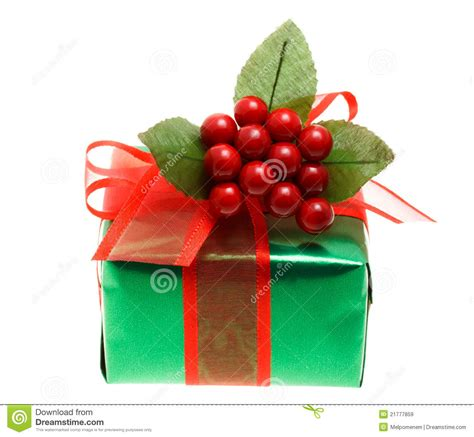 green christmas gift box stock image image of ornate
