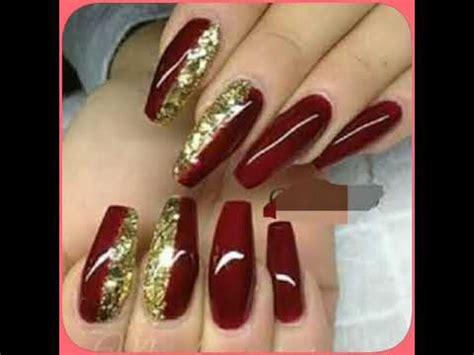 imágenes de uñas rojas con dorado u 209 as acr 205 licas colores vino rojas y pasion dise 209 os