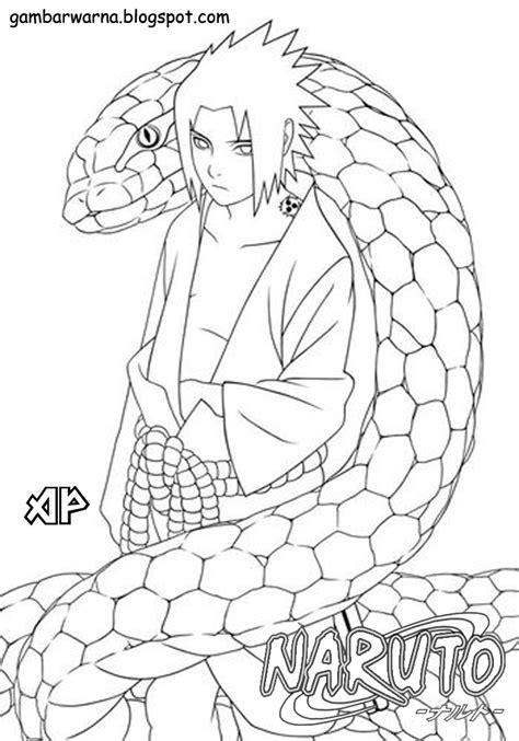 Mewarnai Sasuke | Belajar Mewarnai Gambar