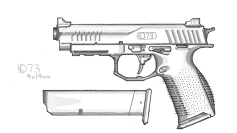 how to draw doodle guns a gun inspired by the fn fns pistol design sorry for not