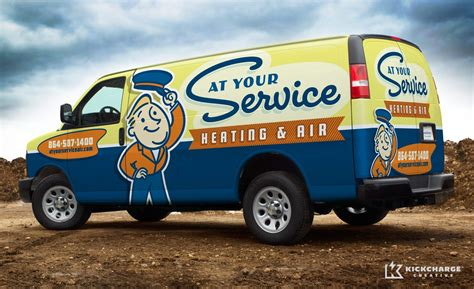 car service company at your service heating air kickcharge creative