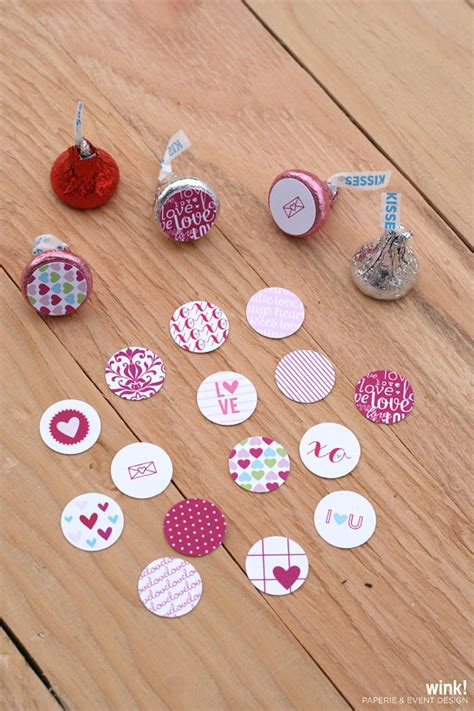 printable stickers for hershey kisses items similar to printable valentine s day hershey kisses