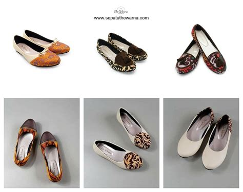 Sepatu Flat Motif Macan 02 jual flat shoes warna coklat sepatu the warna sepatu wanita