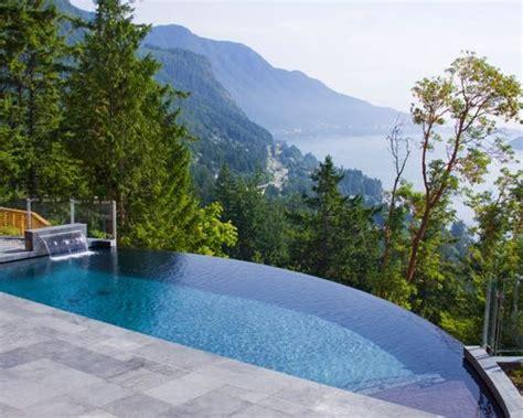 Small Backyard Infinity Pool Houzz Infinity Pool Backyard
