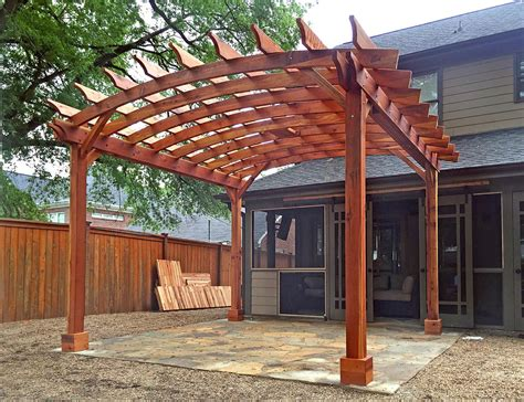 open roof pergola arched open sky pergolas
