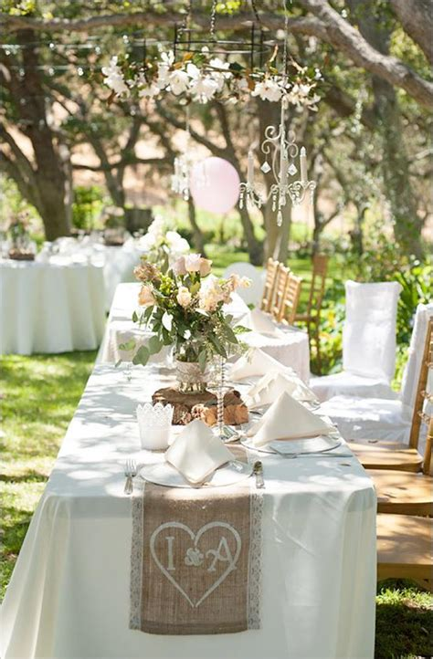 shabby chic backyard wedding weddbook