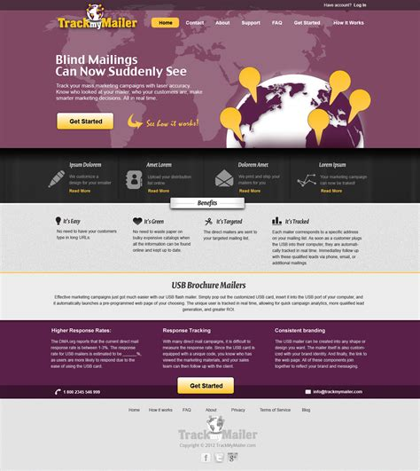 2 web page designs for track my mailer hiretheworld