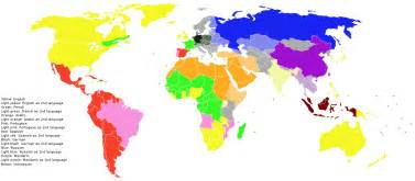 Language Map Of The World by File Main World Languages Png