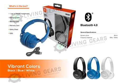 Original Jbl Wireless On Ear Headphone T450bt Putih jbl t450bt bass sound wireless bluetooth on ear