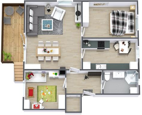 House Plans With Apartment by Simple Two Bedroom House Plan Interior Design Ideas