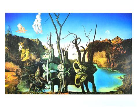 Salvador Dalis Werke by Salvador Dali Schw 228 Ne Reflektieren Elefanten Poster