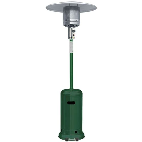 Garden Radiance 41 000 Btu Green And Stainless Steel Full Stainless Steel Propane Patio Heater