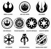 Star Wars Logos And Symbols Vinyl Decals