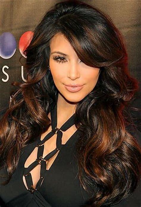 kim kardashian hair color highlights kim kardashian hair hair color and hair on pinterest