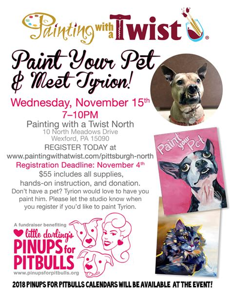 paint with a twist lakewood events pinups for pitbulls