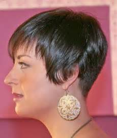 wedge one side longer hair short modified wedge short hairstyle 2013