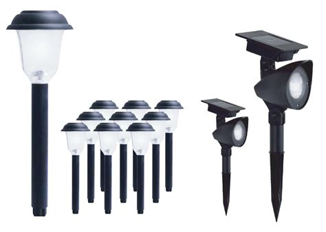 ez solar pathway lights ezsolar 12 pack solar value kit 10 pathway lights 2