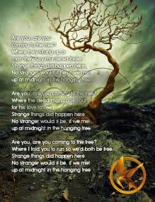 the hanging tree hunger games pinterest lyrics side by side and mocking jay