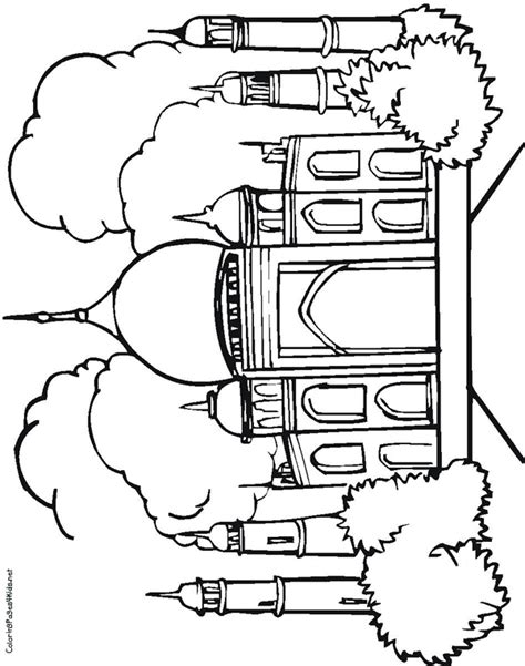 taj mahal coloring pages coloring pages for kids