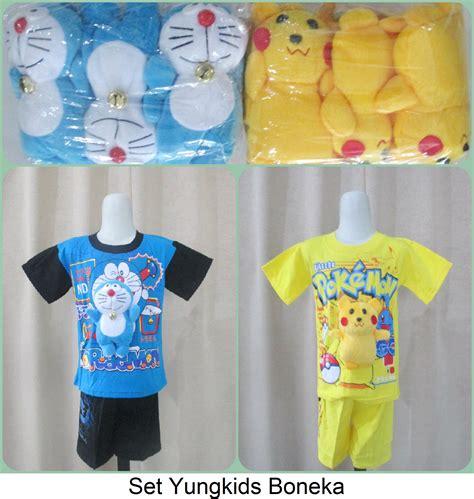 Grosir Murah Baju Anak Softella Set Adek sentra grosir setelan yungkids boneka size 10 14 karakter baru murah 33ribu