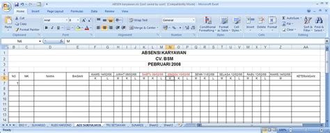 format absensi karyawan manual blog mas gunawan november 2011