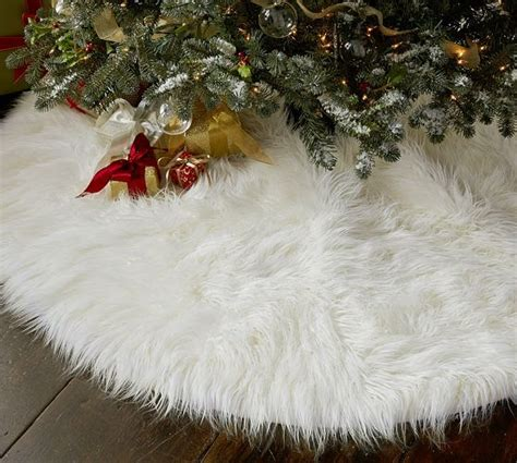 faux fur tree skirt pottery barn 129 make our own