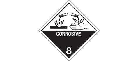 printable corrosive label hazardous labels hazard class 8 quot corrosive quot printed