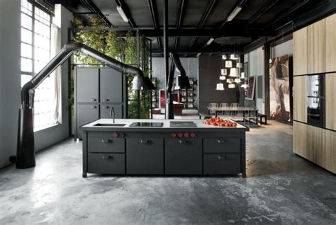 industrial loft decor milan loft design with dark industrial metals in decor