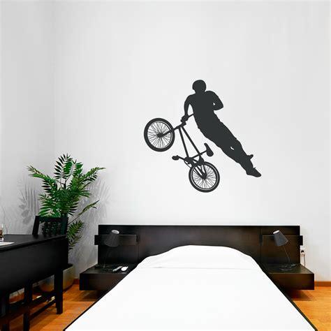 bmx wall stickers bmx biker wall decal