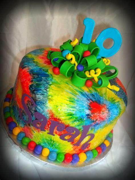 tie dye cake marina turns 9