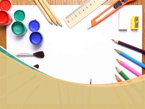 Free School Art Supplies Backgrounds For Powerpoint Education Ppt Templates Artistic Powerpoint Templates