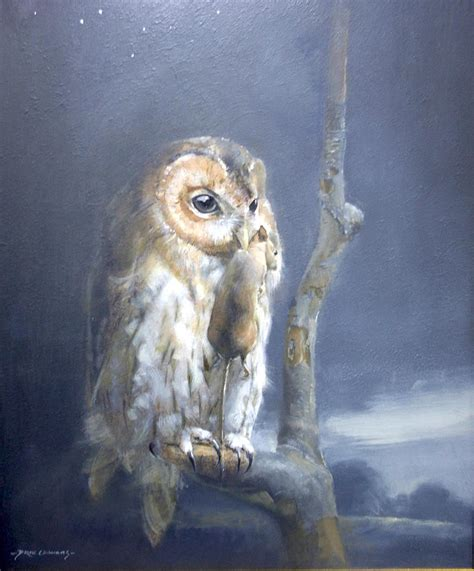 Owl Light by By Owl Light Altar Wise Painting By Derek Williams