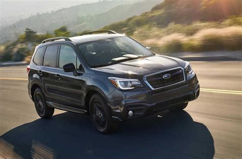 2018 Subaru Forester Black Edition Announced In U S