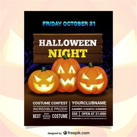 Free Halloween Costume Contest Flyer Template