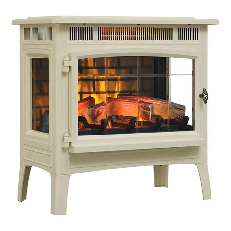 duraflame 3d cream infrared electric fireplace stove with