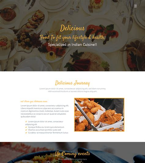 bootstrap themes restaurant free download delicious free restaurant bootstrap theme bootstrapmade