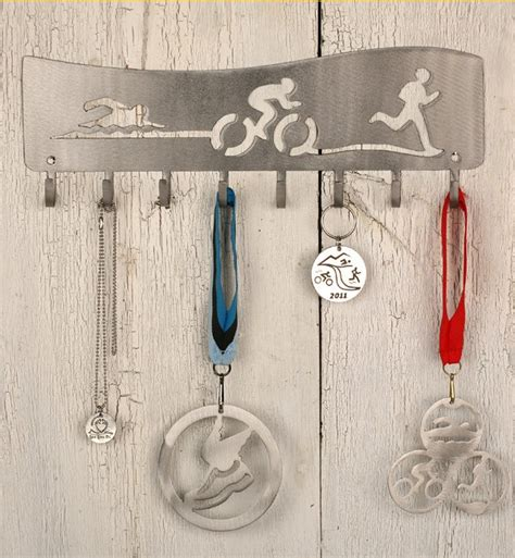 Triathlon Medal Rack by Triathlon Quot Flow Quot Iron Medal Display Rack