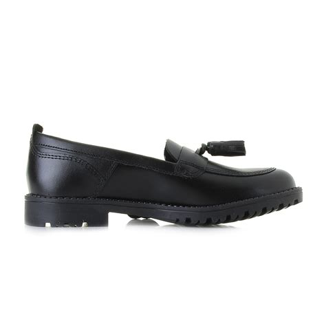 junior loafers junior kickers lachly tass leather jf black